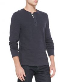 Rag and Bone Flame Jersey Henley Navy at Neiman Marcus