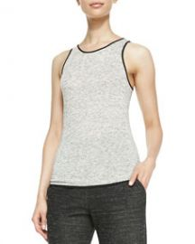 Rag and Bone Spine Solid-Trim Slub Tank at Neiman Marcus