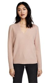 Raglan Ribbed Double V Neck by Vince at Shopbop