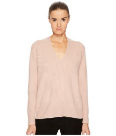 Raglan Rib Double V-Neck at Zappos Luxury