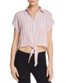 Rails Amelie Cropped Tie-Front Shirt at Bloomingdales