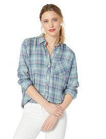 Rails Hunter Shirt in Agave Rose Blue at Amazon