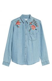 Rails Ingrid Embroidered Chambray Shirt   Nordstrom at Nordstrom