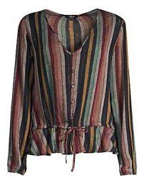 Rails - Beaux Stripe Tie-Waist Button-Down Blouse at Saks Fifth Avenue
