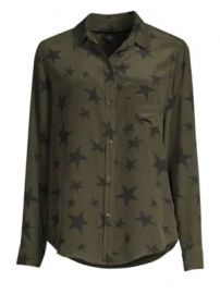Rails - Kate Star Button-Down Silk Blouse at Saks Fifth Avenue