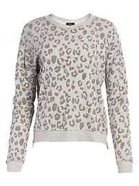 Rails - Marlo Flocked Leopard Print Sweatshirt at Saks Fifth Avenue