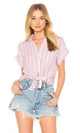 Rails Amelie Button Up in Bordeaux Stripe from Revolve com at Revolve