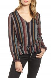 Rails Beaux Ruffle Waist Blouse   Nordstrom at Nordstrom