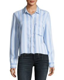 Rails Bishop Striped Button-Front Cutoff Top   Neiman Marcus at Neiman Marcus