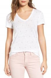 Rails Cara Print Linen Blend Tee at Nordstrom