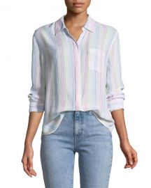 Rails Charli Candy-Striped Long-Sleeve Shirt at Neiman Marcus