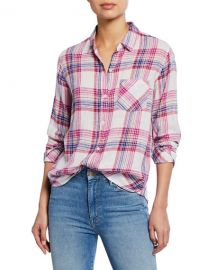 Rails Charli Plaid Button-Down Shirt at Neiman Marcus