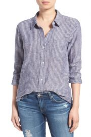 Rails Charli Stripe Linen Blend Shirt at Nordstrom Rack