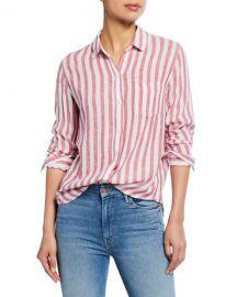 Rails Charli Striped Button-Down Shirt at Neiman Marcus