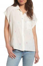Rails Chase Seahorse Print Silk Shirt at Nordstrom