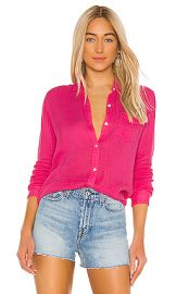 Rails Ellis Gauze Button Down in Hibiscus from Revolve com at Revolve