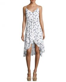 Rails Frida Butterfly-Print V-Neck Belted Dress at Neiman Marcus