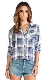 Rails Hunter Button Down in Blue and Cream  REVOLVE at Revolve