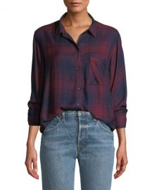 Rails Hunter Plaid Button-Front Long-Sleeve Shirt at Neiman Marcus