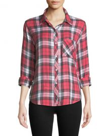 Rails Hunter Plaid Long-Sleeve Button-Front Top at Neiman Marcus