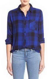 Rails Hunter Plaid Shirt in Cobalt at Nordstrom