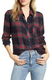 Rails Hunter Shirt in Navy Iron Currant at Nordstrom