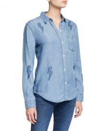 Rails Ingrid Lightning Bolt Button-Down Top at Neiman Marcus