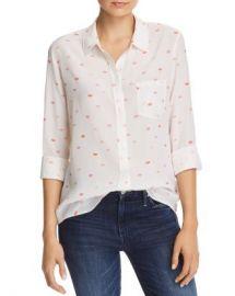 Rails Kate Lips Print Silk Shirt  Women - Bloomingdale s at Bloomingdales