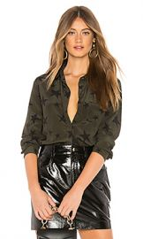 Rails Kate Silk Blouse in Sage  amp  Black Stars from Revolve com at Revolve