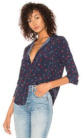 Rails Kate Silk Button Down Blouse in L Amour from Revolve com at Revolve