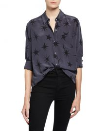 Rails Kate Star-Print Button-Down Top at Neiman Marcus