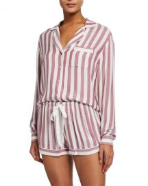 Rails Kellen Striped Long-Sleeve Shortie Pajama Set at Neiman Marcus