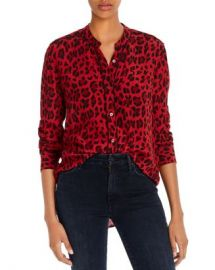 Rails Lillian Piped Leopard Print Shirt  Women - Bloomingdale s at Bloomingdales