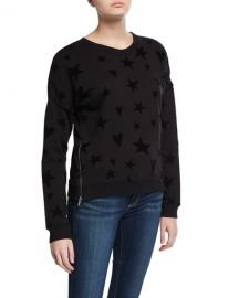Rails Marlo Hearts Stars Side-Zip Sweater at Neiman Marcus