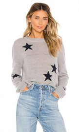 Rails Perci Sweater in Light Grey  amp  Navy Stars from Revolve com at Revolve
