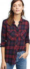 Rails Rex Plaid Button-Front Studded Shirt at Amazon