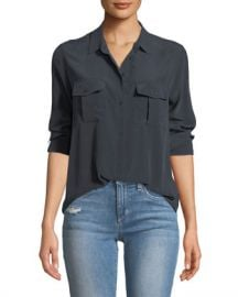 Rails Rhett Button-Front Long-Sleeve Pocket Shirt at Neiman Marcus
