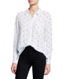 Rails Rocsi Heart Button-Down Long-Sleeve Shirt at Neiman Marcus