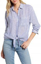 Rails Rylan Stripe Tie Front Shirt   Nordstrom at Nordstrom