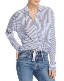 Rails Rylan Tie-Front Striped Shirt  Women - Bloomingdale s at Bloomingdales