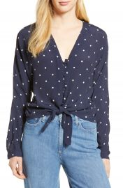 Rails Sloane Tie Front Top at Nordstrom