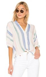 Rails Thea Button Down Top in Pastel Watercolor Stripe from Revolve com at Revolve