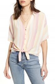Rails Thea Tie Waist Blouse   Nordstrom at Nordstrom
