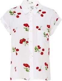 Rails Women s Whitney Cherry Bloom Print Shirt White at Amazon