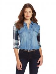 Rails denim and plaid shirt at Amazon