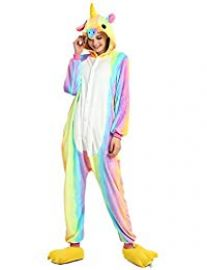 Rainbow Unicorn Onesie at Amazon