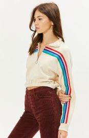Rainbow Half Zip Cropped Sweatshirt by LA Hearts at PacSun