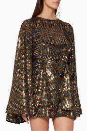 Rainbow Sequin Mini Dress by Caroline Constas at Saks Fifth Avenue