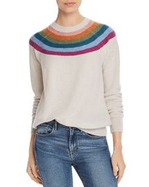 Rainbow-Stripe Cashmere Sweater at Bloomingdales