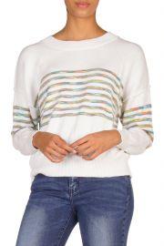 Rainbow Stripe Sweater by Elan at Shoptiques